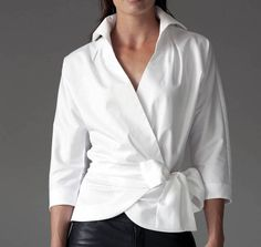 The Perfect White Shirt - By The Shirt Company - Avalon & Kelly - navy mens shirt, mens shirts casual, menswear shirt *ad Classic White Shirt, Crisp White Shirt, Blouse Wrap, Wrap Shirt, Long Blouse, White Shirt Outfits, White Blouse Outfit, Casual Outfits, Cute Outfits