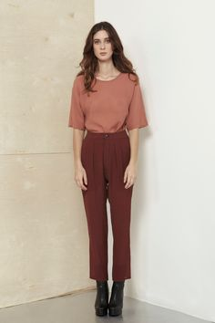 Rose Dust Kyoto Crepon Top