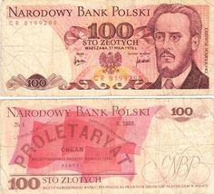 100 Sto Zlotych: Polish Banknote from Robyn Klemptner kollectbox collection…