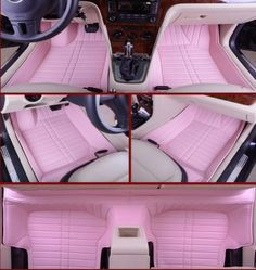 Girly car floor mats auto pink car mats car accessories for girls cool jeep accessories car Cool Jeep Accessories, Car Accessories For Women, Car Interior Accessories, Vehicle Accessories, Wrangler Accessories, Jeep Rose, Accessoires Jeep, Pink Car Interior, Truck Accessories