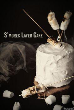 Smores Layer Cake via  @Nakita Ferrell Ferrell Ferrell L. Roberts