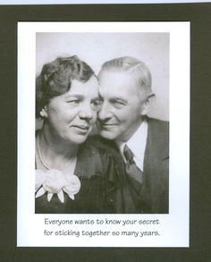 Funny Anniversary Card- your secret for sticking together. $2.50, via Etsy.  Inside:  I always tell them ... Krazy Glue.  Happy Anniversary!