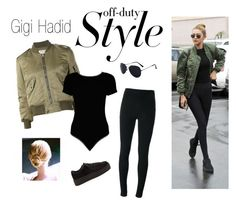 """""""Off-duty fashion: Gigi Hadid Style"""" by audreyelizabethblogs ❤ liked on Polyvore featuring Yves Saint Laurent, Givenchy, Boohoo, contestentry, offduty and gigihadid"""