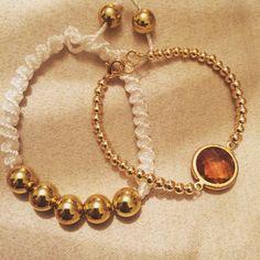 #zoecreations #macrame #jewelry #pr #bracelets #pulseras #gold #white