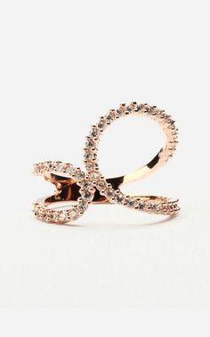 Trendy Diamond Rings : Rose Gold Ring