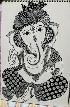 Pen and ink work Abstract Pencil Drawings, Art Drawings Sketches Simple, Art Drawings For Kids, Mandala Art Lesson, Mandala Artwork, Doodle Art Drawing, Mandala Drawing, Doodle Art Designs, Ganesha Art