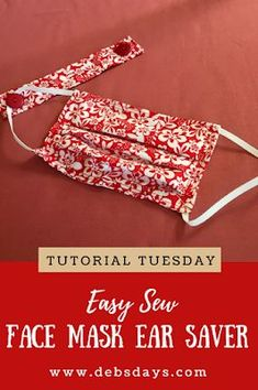 Sewing tips 295196950579915511 - Debs Days: How to Sew Face Mask Ear Savers – Tutorial Tuesday Source by murielbrochard Small Sewing Projects, Sewing Projects For Beginners, Sewing Hacks, Sewing Tutorials, Sewing Tips, Dress Tutorials, Sewing Blogs, Craft Projects, Easy Face Masks