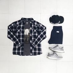 Flannel Outfits, Men's Outfits, Fashion Outfits, Hype Clothing, Boy Clothing, Clothes, Lumberjack Style, What To Wear Today, Mens Trends