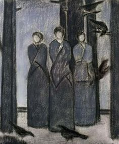 """∴ Trios ∴ the three graces & groups of 3 in art and photos - """"Study for Three Muses"""" 