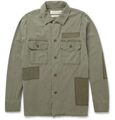 Remi Relief- Regular-Fit Washed-Cotton Overshirt (Green)