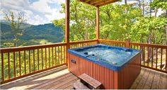Relax in the Hot Tub at Soaring Ridge overlooking the Smoky Mountains after a day of fun!