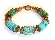 Genuine Mosaic Turquoise Antique Copper/Copper by IslandGirl77, $35.99