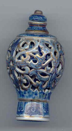 Chinese Snuff Bottle. Imperial Porcelain.