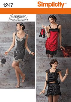 1247 Simplicity Creative Group - Misses' Flapper Costume