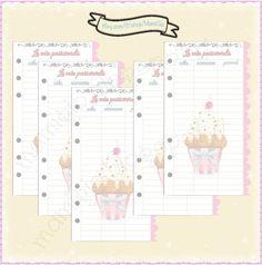 """Refill """"Password"""" per agenda filofax #refill #planner #cupcake"""