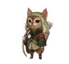 Artist Kyounghwan Kim drew this seriously adorable series of different types of cats as fantasy role-playing game classes #