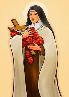 Santa Teresa de Lisieux Livro para colorir