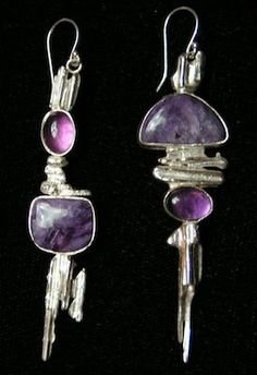 Charoite, amethyst, and silver... I hope my husband is paying attention!!!!