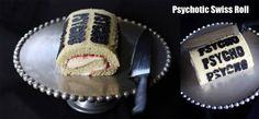 Psycho swiss roll for the original Depressed Cake Shop in London, England