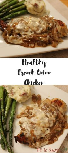 Healthy, 21 Day Fix approved French Onion Chicken! Sooooo damn delicious! You NEED to make this!