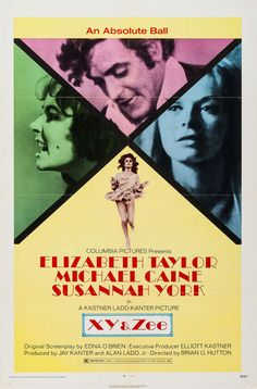 """US one sheet for X, Y & ZEE (Brian G. Hutton. UK, 1972) Designer: uncredited Poster source: Heritage Auctions """"Zee and Robert Blakeley are members of swinging London's upper crust whose unique love-hate marriage heads towards destruction when Robert..."""