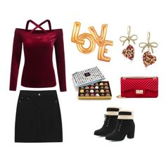 A great outfit for a valentine's date or night out with friends -- this pretty velvet shirt is flattering and sweet. Pair the versatile skirt and boots with so many other outfits, like a drape sweater or cozy turtleneck. We have you covered for...