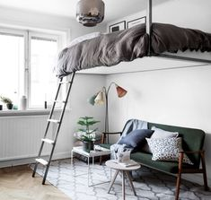 Space saving floating bunk bed - via cocolapinedesign.com