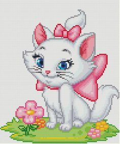"""Disney"" ""Aristocats"" Marie 2 Cross Stitch Pattern"
