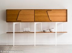 Solid wood sideboard with doors NEUS by Jo-a design Sébastien Boucquey
