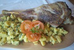 Sült kecskecomb Pork, Dishes, Chicken, Kale Stir Fry, Tablewares, Pork Chops, Dish, Signs, Cubs