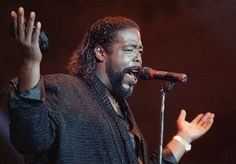 Barry White: Let the music play on /  Just until I feel this misery is gone /  Movin, kickin, groovin, keep the music strong / On and on and on and on and on