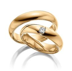 Q-1068-1 Diamond Wedding Rings, Diamond Rings, Wedding Bands, Ring Set, Gold Jewellery Design, Couple Rings, Designer Engagement Rings, Gold Bands, Ring Designs