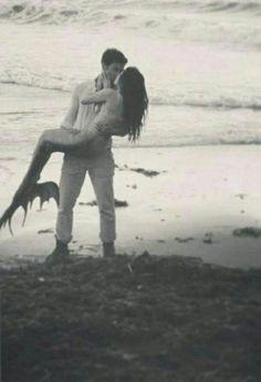 mermaid kiss passion fantasy prince charming dreams come true magic love Real Mermaids, Mermaids And Mermen, Fantasy Mermaids, Mermaid Tails, Mermaid Art, Mermaid Paintings, Tattoo Mermaid, Mermaid Mermaid, Vintage Mermaid