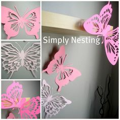 Hey, I found this really awesome Etsy listing at https://www.etsy.com/listing/97253190/laborday14-3d-wall-butterflieslarge-10