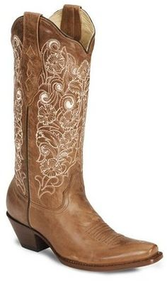 Corral Women's Bone Embroidery Cowgirl Boots - Polyvore