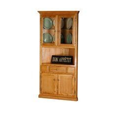 Eagle Furniture Classic Oak Corner Dining Buffet with Hutch - 50104PLAT