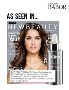 """NEW BEAUTY MAGAZINE beauty editors swear by DOCTOR BABOR Ultimate Vitamin C Booster Concentrate: """"Use this on your face, neck and decollete to get instantly softer skin with a healthier, more youthful glow."""" http://ow.ly/xJAfE"""