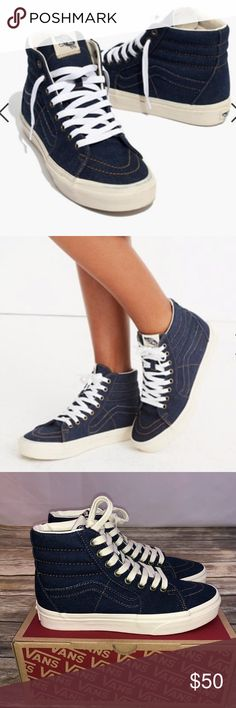 newest 318eb a0bef Madewell X Vans Unisex Sk8-Hi High-Top Sneakers Madewell X Vans Unisex Sk8