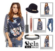 """""""Floral Striped"""" by rachella-xoxo ❤ liked on Polyvore featuring Polaroid, Humble Chic, Betmar, Burberry, casual, floralprint and shein"""