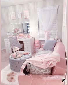 Pin on Pink and rose gold Home Decor Ideas Girl Bedroom Designs, Room Ideas Bedroom, Girls Bedroom, Bedroom Decor, Bedrooms, Cute Room Ideas, Cute Room Decor, Gold Home Decor, Glam Room