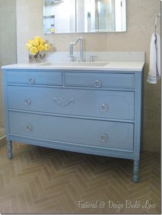 Converting Dresser to Bathroom Vanity | bathroom vanity
