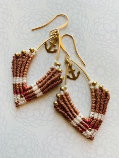 Handmade bohemian macrame earrings for women, wax cords and gold/silver plated jewelry by Iris Mishly for MacraMish Collection! Special prices for re-opening our Etsy shop <3 #macrameearrings #earringshop #earringoftheday #earringstyle #earringlover #micromacramejewelry #micromacrameearring #earringsforsale #macramelove #handmadeearrings #macramish #bohoearrings #עגיליםמעוצבים #עגיליםמיוחדים #תכשיטיםבעיצובאישי #תכשיטימקרמה #תכשיטיםלנשים Macrame Earrings, Macrame Jewelry, Beaded Bracelets, Custom Earrings, Unique Earrings, Drop Earrings, Artisan Jewelry, Handmade Jewelry, Unique Jewelry