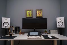 Battlestation: 2016 Edition - Album on Imgur Home Studio Setup, Music Studio Room, Recording Studio Home, Home Office Setup, Home Office Design, Studio Ideas, Computer Desk Setup, Gaming Room Setup, Pc Desk