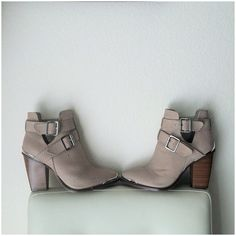 Shoemint Boots - Textured Cut Out Booties