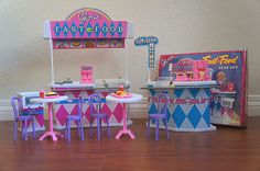 GLORIA Dollhouse FURNITURE SIZE FAST FOOD STAND W/ Cashier Playset FOR BARBIE on eBay!