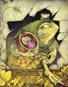 çizgili masallar: Thumbelina by Wayne Anderson