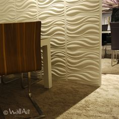The curling lines in different thicknesses imitate the smooth waves of the sea! This unique 3d-walltile and 3d boards design sweep off your feet and is an recommendation for anyone who likes the dynamics of the sea.Our 3d-wall-tile has a size of 50 centimeter by 50 centimeter and they are easily to be installed by yourself.Size of the 3d wall tile are: 50x50 centimeters. They are easy to install.