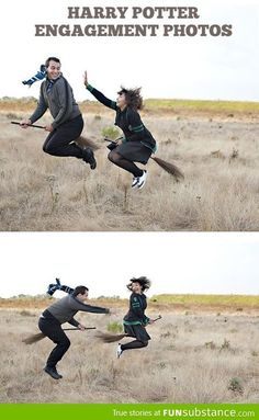 Harry Potter engagement photos. this is brilliant.