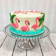 HER-FLAM-6 Pink Flamingo Party, Flamingo Birthday, Flamingo Cake, Festa Flamingo, Pink Flamingos, Birthday Woman, Summer Birthday, Luau Birthday, Mini Tortillas