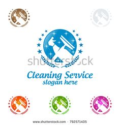 House Cleaning Vector Logo Design, Eco Friendly with shiny glass brush and spray Concept isolated on white Background Cleaning Service Logo, Vector Logo Design, Logo Design Inspiration, Clean House, Slogan, Eco Friendly, Royalty Free Stock Photos, Concept, Glass